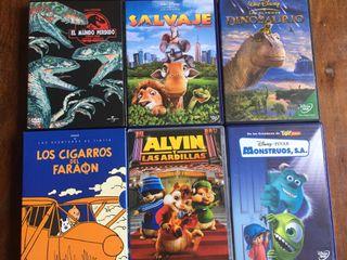 Muy divertidas 6 DVDs películas para niños/jóvenes