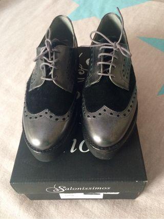 Zapatos con plataforma, mujer. Talla 36.