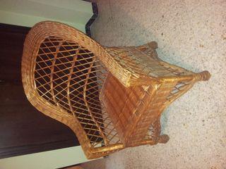 cadira/butaca de mimbre