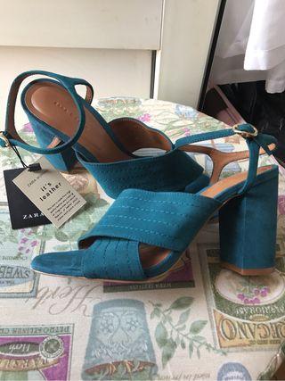 Sandalias de Zara de piel