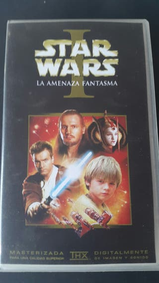 Película vhs Star Wars Episodio I Amenaza Fantasma