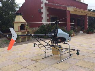 Drone Helicoptero fumigación