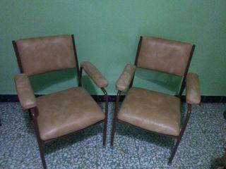 Pareja de sillones de escay