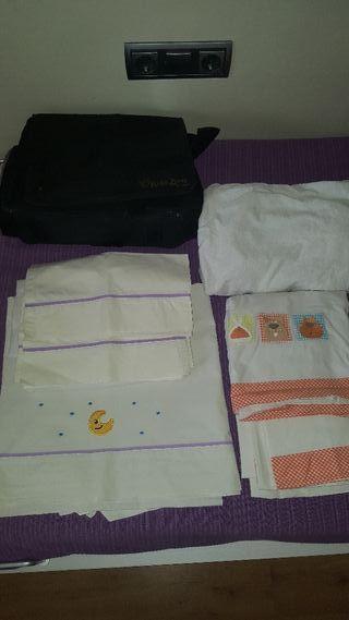 Colchón cuna 140+funda impermeable+2 sábanas+manta