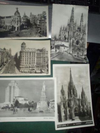 tarjetas postales de años 40 y 50 blanco y negro