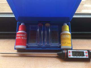 Medidor de cloro y termometro