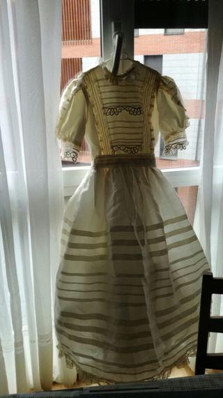 vestido comunion beis del.corte ingles