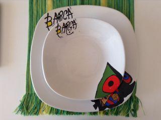 Platos Miró y Barça