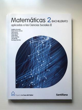 Libro Matemáticas 2 Bachiller NUEVO