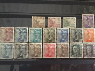 Sellos 1949-53 Edifil 1044/61