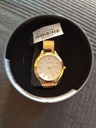 reloj SKYLINE mujer dorado NUEVO