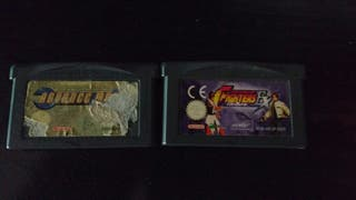 Juegos GBA Advance Wars y King of Fighters