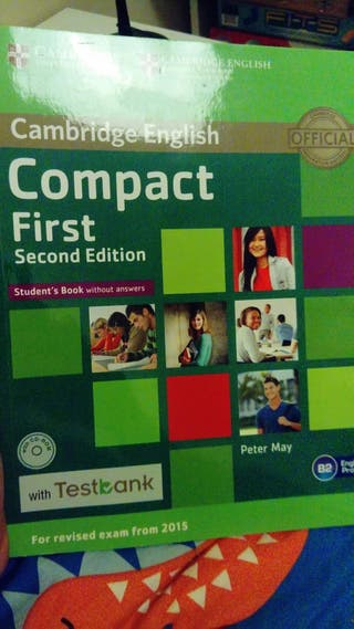 cambridge compact first student's book.