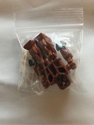 LEGO Minifigura Robot Bronce