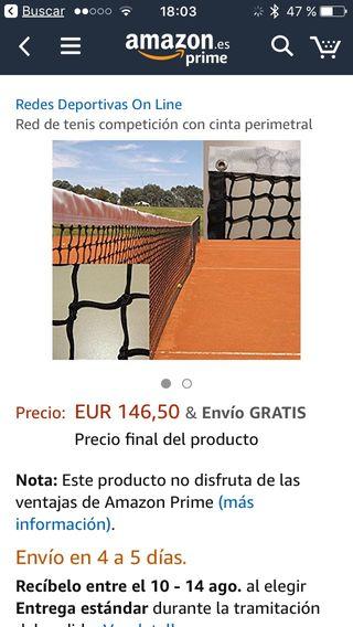 Red de tenis. CHOLLO