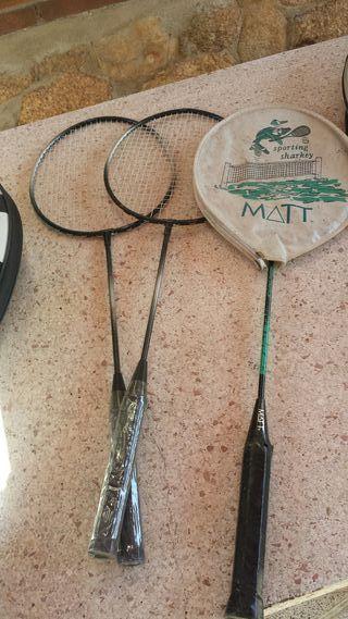 raquetas de batminton