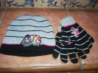 gorro y guantes Monster