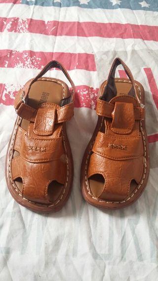 Sandalias de piel para niño, talla 33