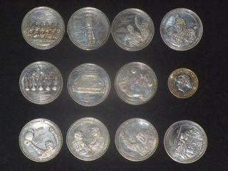 11 Monedas Real Madrid.. baño plata