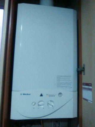 Calefacción entera. Caldera y radiadores