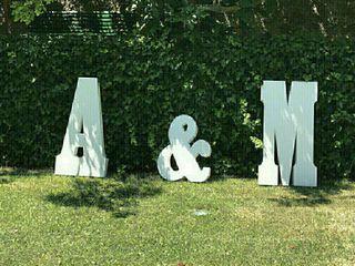 letras boda A&M