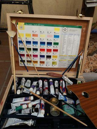 maletín pintura oleo