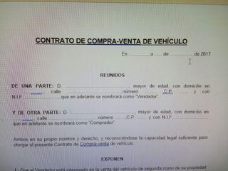 contrato de compraventa de vehículo entre particul