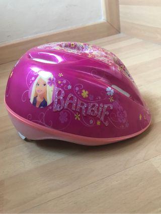 Casco bicicleta de niña barbie