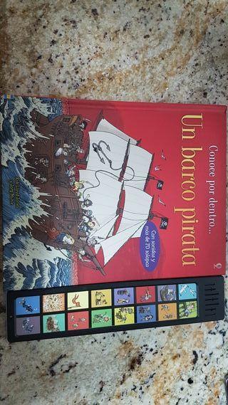 Libro interactivo Barco Pirata