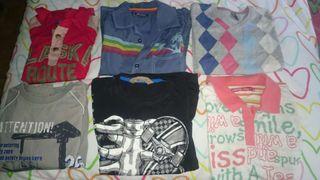 Camisetas y conjunto de pantalón de deporte con apenas uso.
