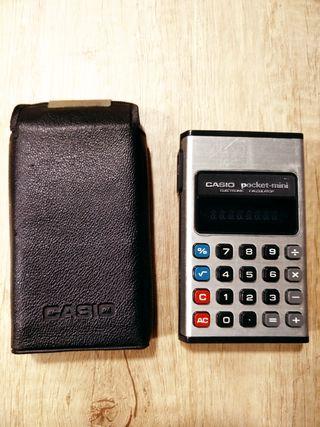 Calculadora Vintage Casio Pocket mini