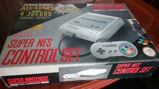 Consola Super Nintendo + Mario All Stars