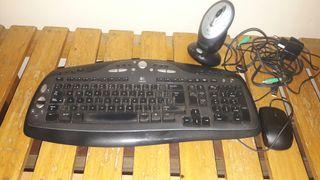 teclado logitech mas raton