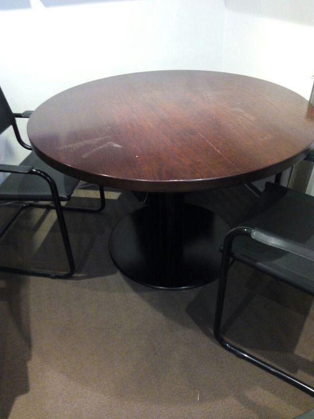 Mesa redonda madera oficina o casa de segunda mano por 125 € en ...