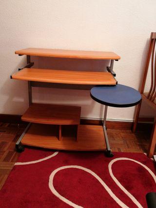mesa de estudio con balda plegable