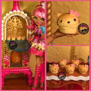 Cupcakes/Magdalenas de Hello Kitty Miniatura