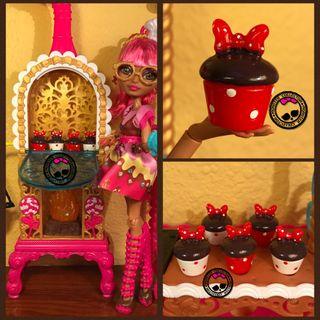Cupcakes/Magdalenas de Minnie Mouse miniatura