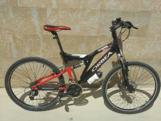 Bicicleta montaña MTB BTT doble