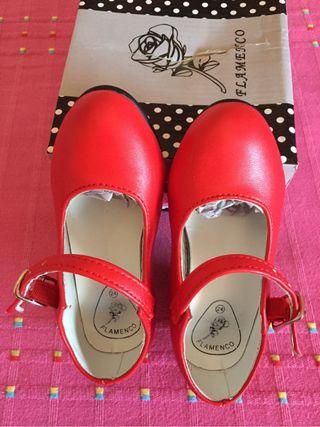 Zapatos flamenca talla 23