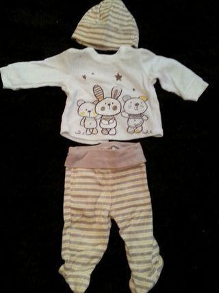 conjunto pijama bebe 0-3m