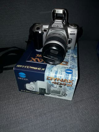 Cámara fotos analógica Minolta Dymax 404 y 2 objet