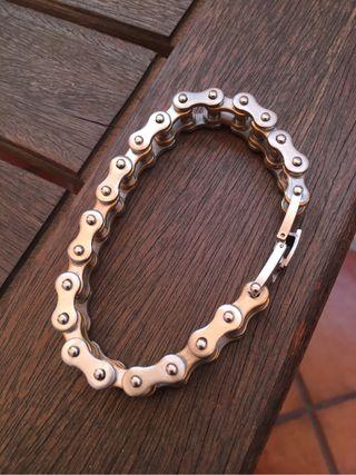Pulsera inox cadena de bici