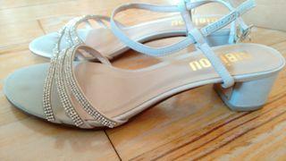 Sandalias elegantes para novia, celebraciones...