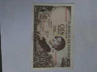 billete de 100 pesetas
