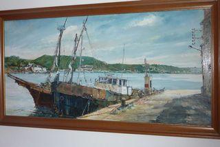 cuadro de menorca en concreto el puerto de mahon