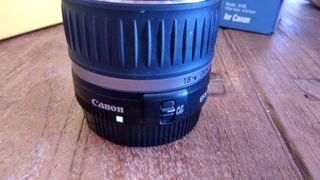 Objetivo fotografía Canon 18-55