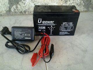 Batería AGM de 7 Ah y cargador