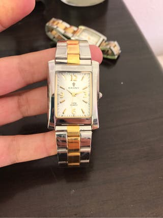 CAUNY Reloj de caballero CUARZO Y ZAFIRO