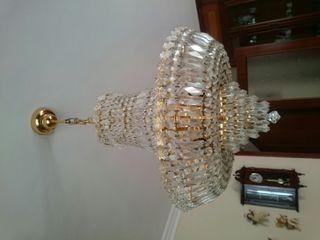 lampara cristales vintage