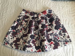 Mini falda flores